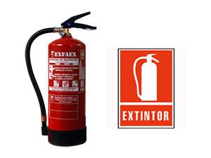 Extintor de polvo polivalente