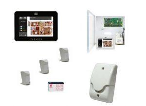 Kit alarma teclado táctil gobernable desde el móvil